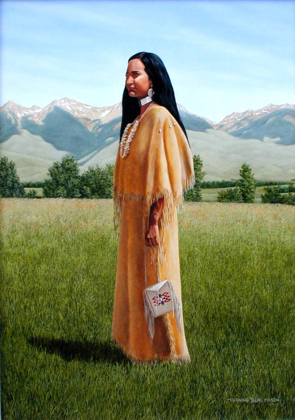 Sacajawea at Lemhi Valley 12x17″