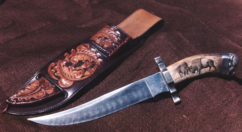 Bison on Bowie Knife