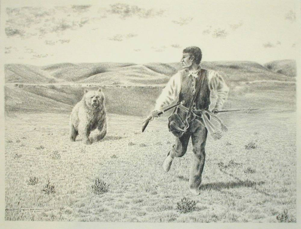 Lewis Chased by the Grizzly